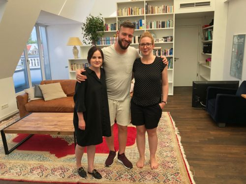 Franzi, Mathas, Gina beim Videodreh für einblick.ms-persönlich.de. Foto: Franziska Fallenstein