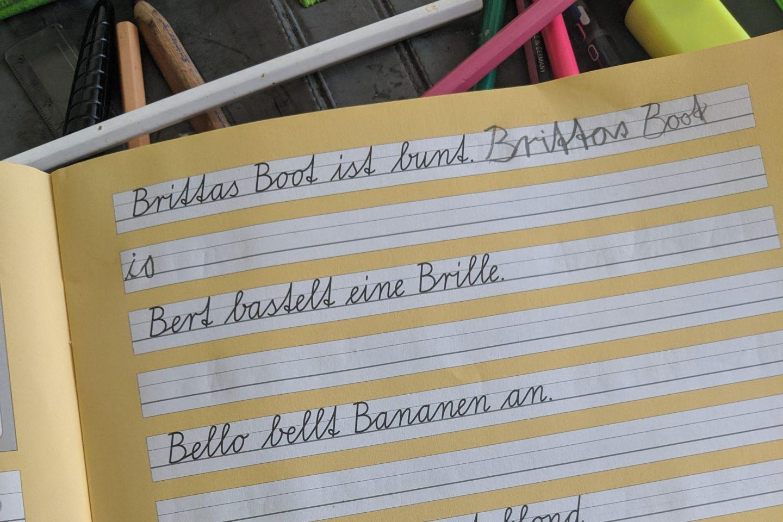 Schreibschriftheft Grundschüler
