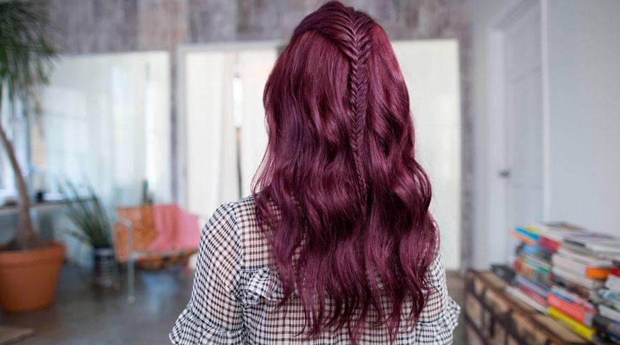 purple hairstyles hair