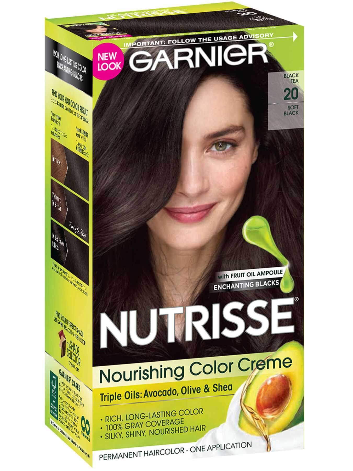 Nutrisse Nourishing Color Creme Soft Black 20 Black Tea