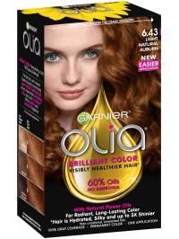 Olia Ammonia-Free Light Natural Auburn Hair Color - Garnier
