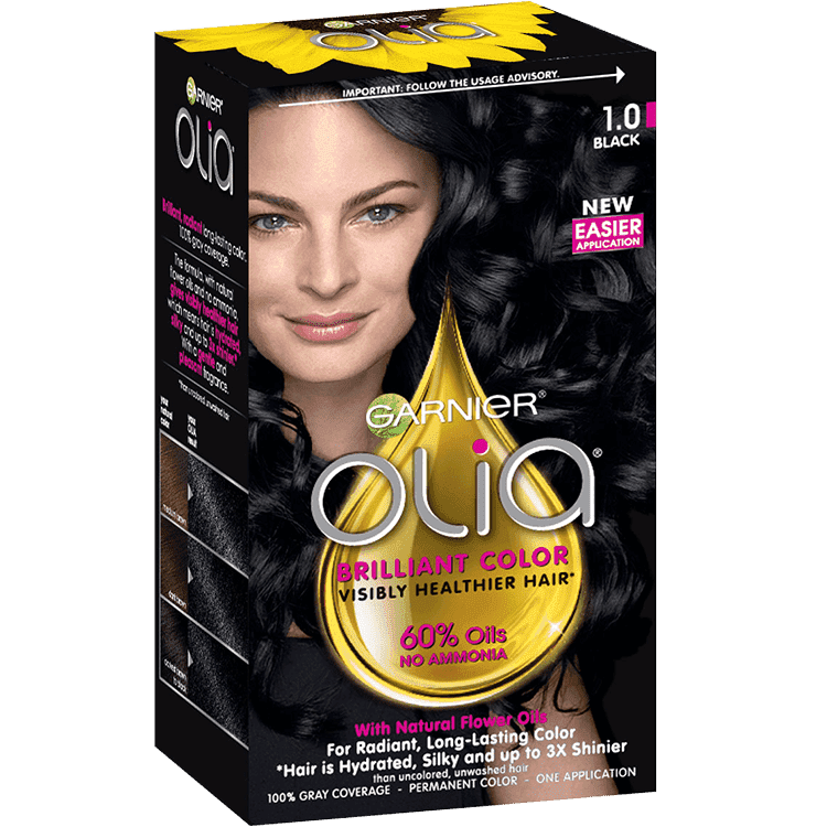 Olia Ammonia Free Permanent Hair Color Black Garnier
