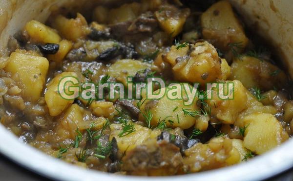 Cartofi de carne de porc și măsline