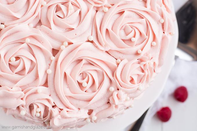 Raspberry Rose Cake Garnish Amp Glaze