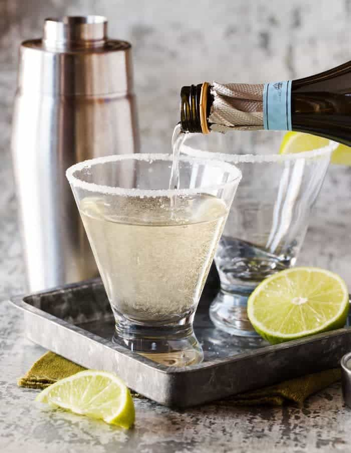 This Gin, Elderflower and Prosecco Cocktail adds the perfect sparkle to any gathering!
