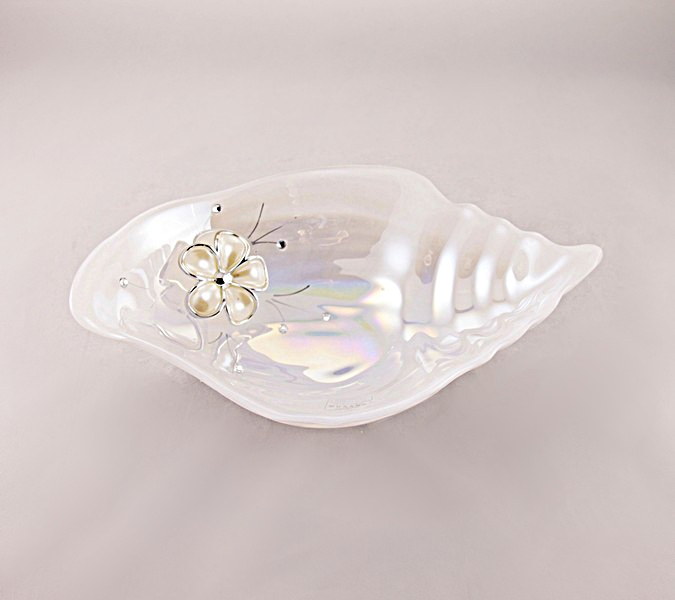 Jamila Evans Ciotola conchiglia Diamante  Bomboniere  Bomboniere in vetro  Bari  Garofalo snc