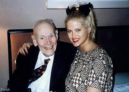 Anna Nicole e seu marido Marshall