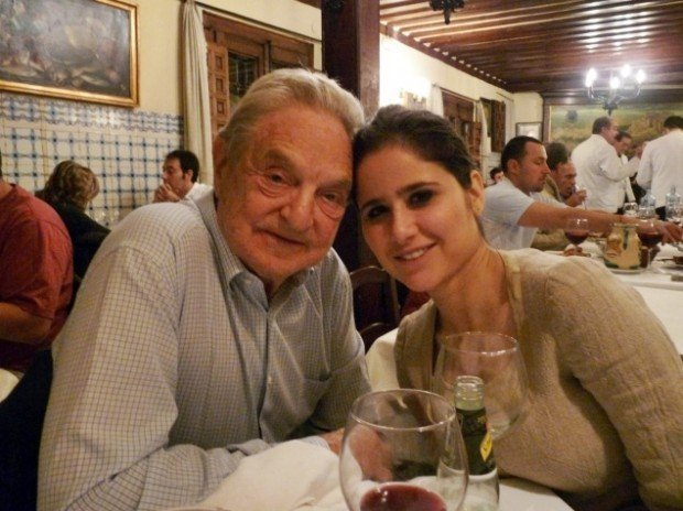 George Soros e sua namorada brasileira