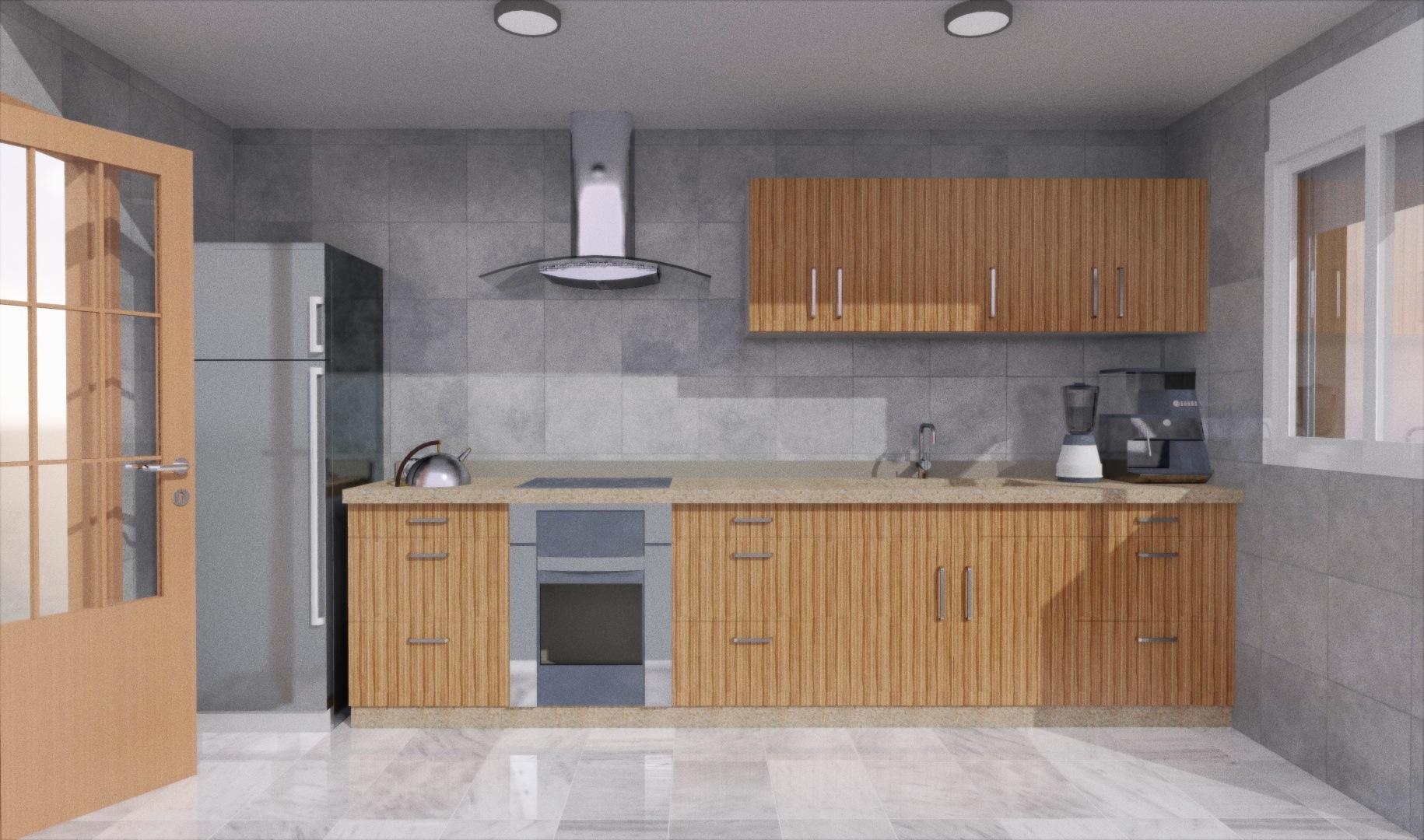 Cuanto mide una cocina garquitectos for Cocinas lineales de cuatro metros