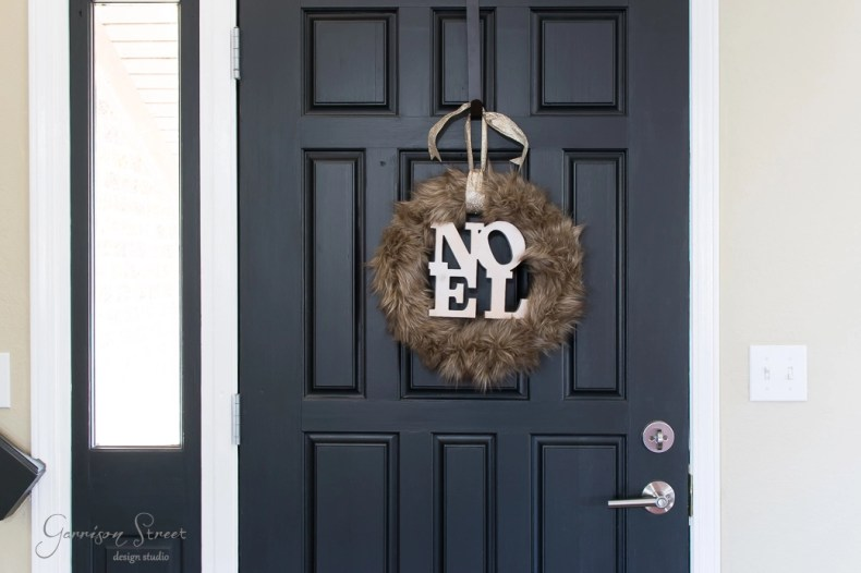 Diy Faux Fur Christmas Wreath Garrison Street Design Studio