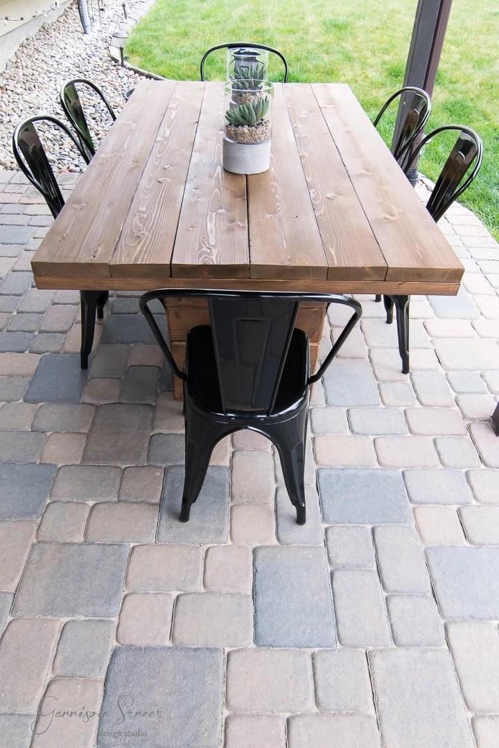 Diy Outdoor Dining Table Garrison Street Design Studio