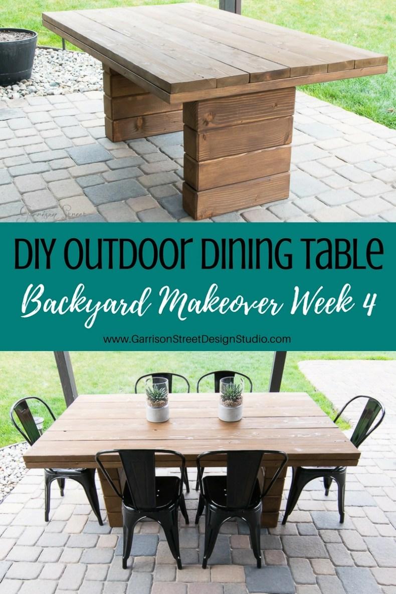 DIY Outdoor Dining Table | Garrison Street Design Studio