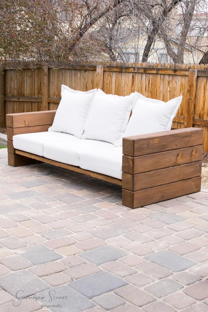 Diy Outdoor Sofa Full Tutorial Garrison Street Design Studio