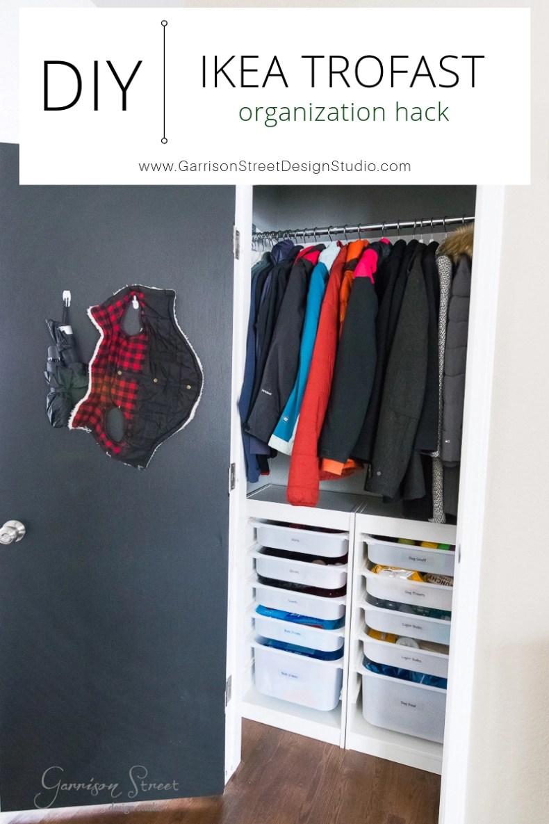 Diy Coat Closet Organization An Ikea Trofast Hack Garrison Street Design Studio