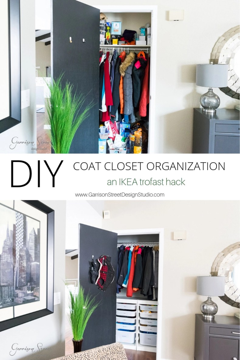 Diy Coat Closet Organization An Ikea Trofast Hack