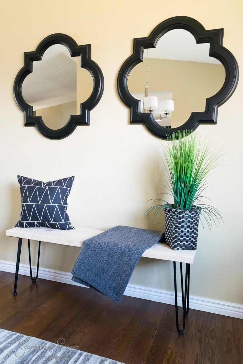 Excellent Diy Hairpin Leg Bench Garrison Street Design Studio Camellatalisay Diy Chair Ideas Camellatalisaycom