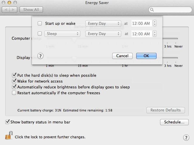 You will find this in Energy Saving in System Preferences