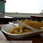 Fish and chips on Brighton beach