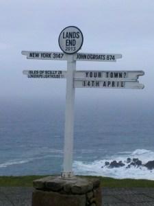 Sign at Lands End