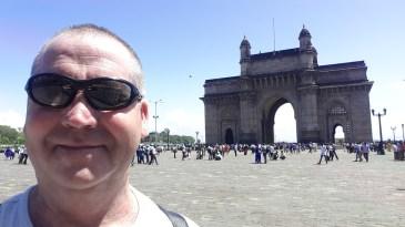 Garry McGivern at the Gateway of India Mumbai.