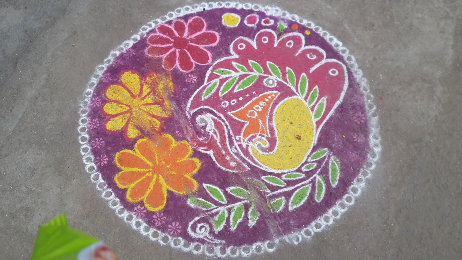 More drawings outside the shops in Dhule.