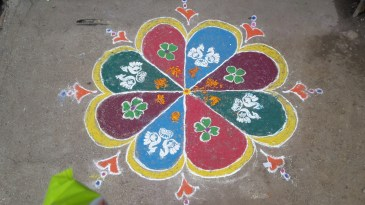 Drawings outside the shops in Dhule.