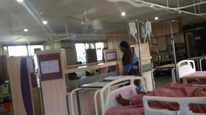 Garry's view from his hospital bed in Dhule.