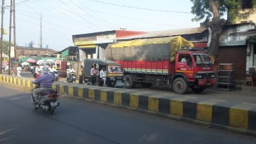 Busy streets in Dhule