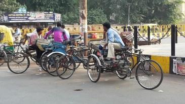 Rickshaws in Lucknow.