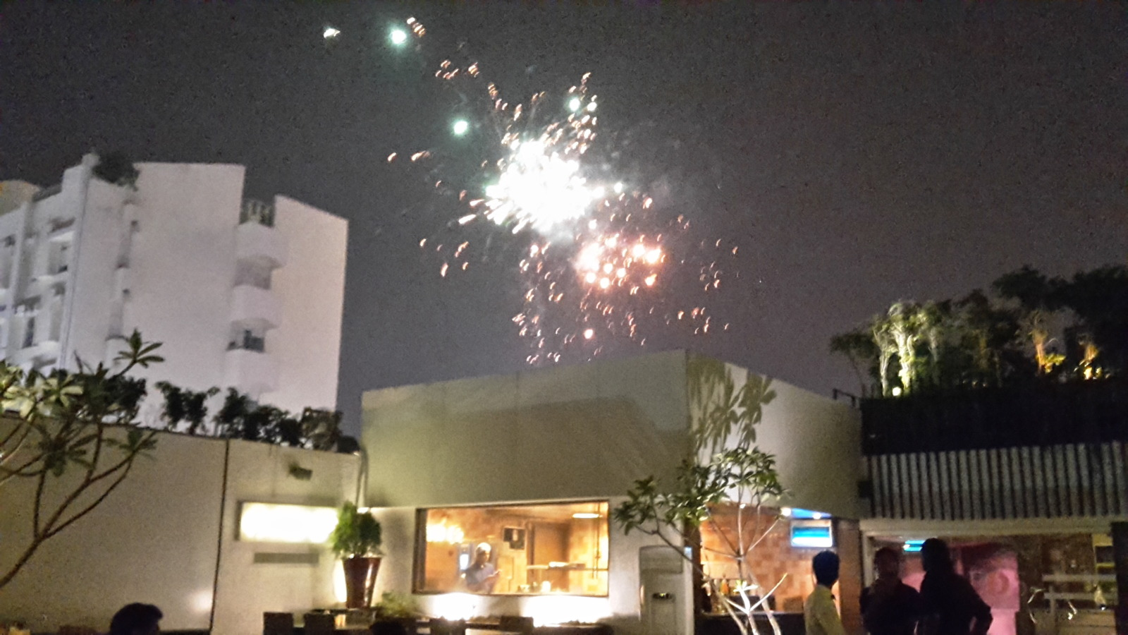 Fireworks in Lucknow on Diwali.