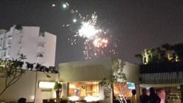 Fireworks in Lucknow on Diwali.