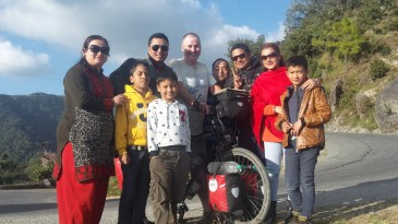 Meeting friendly people on the Tribhuvan Highway.