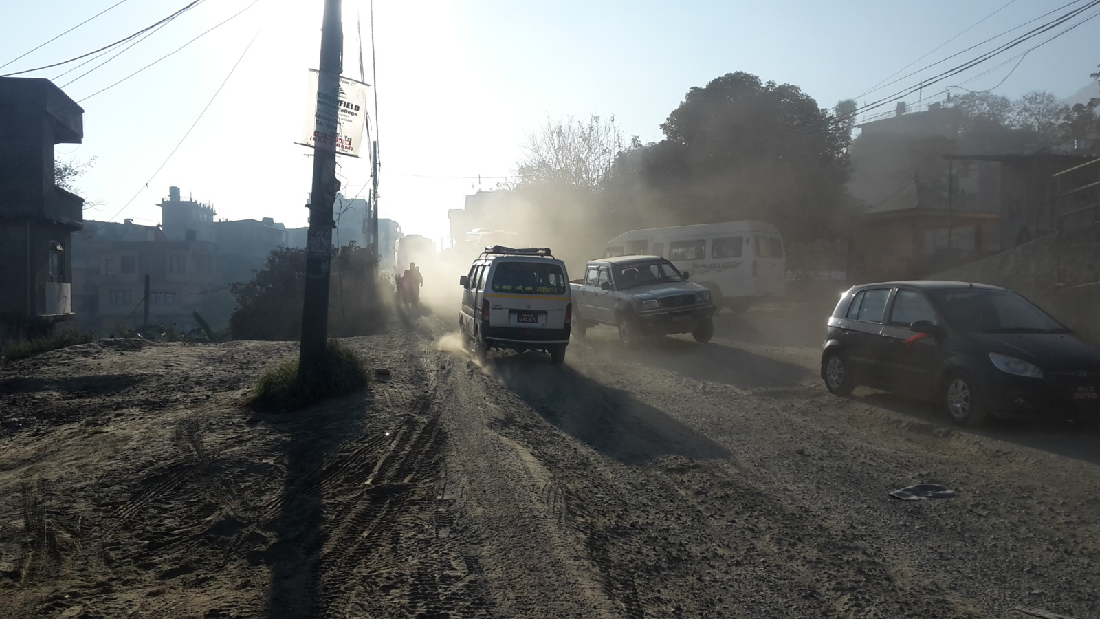 Main road into Kathmandu