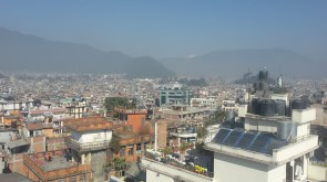 Kathmandu viewed from the hotel roof.