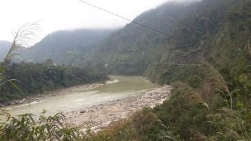 The Trishuli river.
