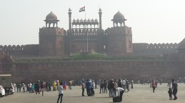 The Red Fort viewed from Netaji Subhash way Delhi