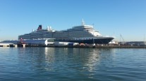 The Queen Elizabeth in port at Southampton