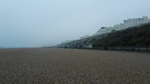 A deserted Brighton beach