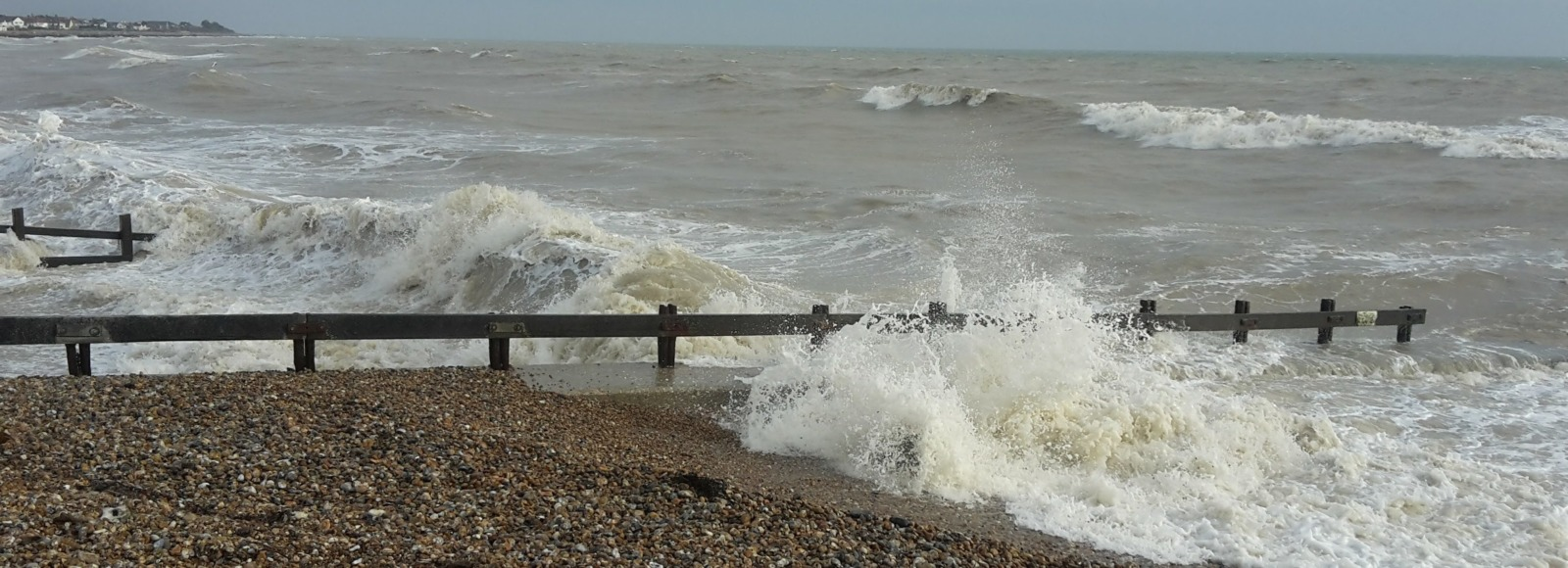 Rough seas in Felpham