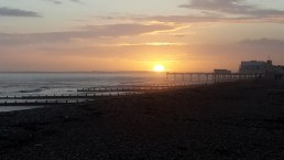 Sunset over Bognor pier