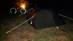 All ready for my first night in the new MSR Hubba Tour 2 tent