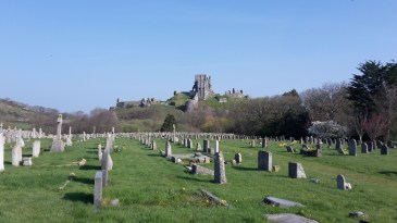 The remains of the castle at Corfe Castle