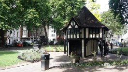 Tudor gazebo in Soho Square