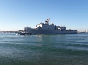 Ship leaving port