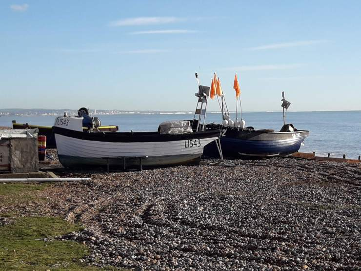 Fisherman's boats on the beach