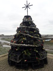Christmas tree made out of lobster pots