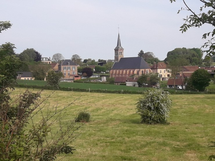 Fields and church