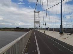 Crossing into Wales on the Severn Bridge