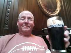 Cheers, first pint of the black stuff!