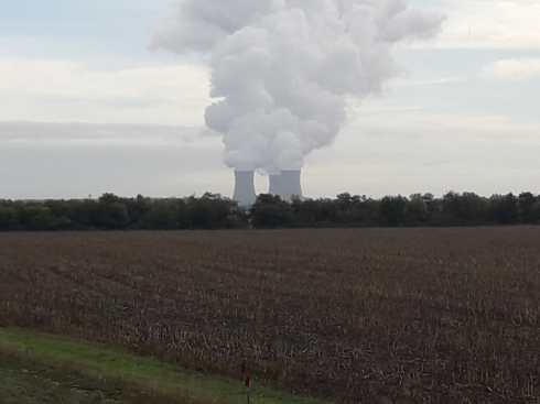 Thought I was coming into Springfield! One of the many power stations along the Loire